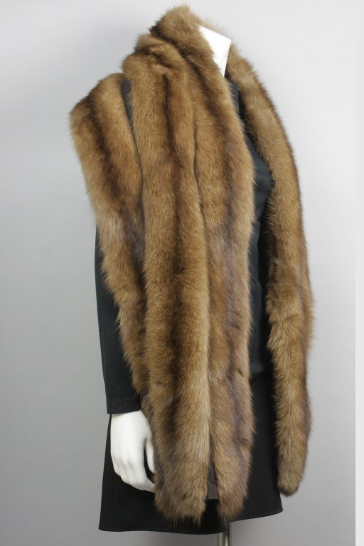 1950s Royal Crown Russian Sable Fur Stole Wrap At 1stdibs