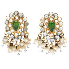 Chanel Maison Gripoix Poured Glass and Pearl Earrings