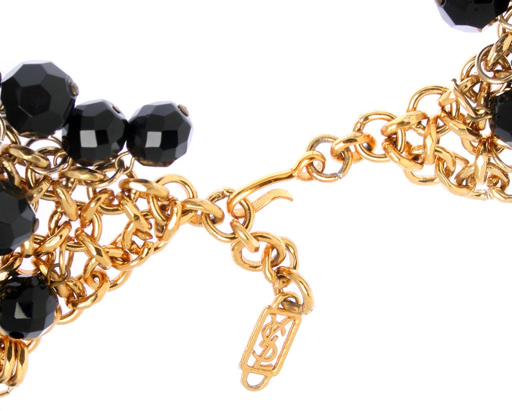Yves St. Laurent Faceted Necklace image 3