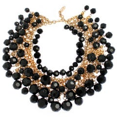Yves St. Laurent Faceted Necklace