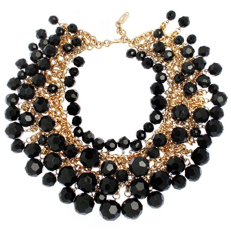 yves st laurent faceted necklace at 1stdibs. Black Bedroom Furniture Sets. Home Design Ideas