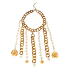 CHANEL Collarette with Pearls, Chains and Coins