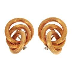 Gold Infinity Multi Hoop Earrings