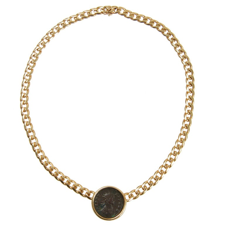 bulgari necklace with ancient coin at 1stdibs