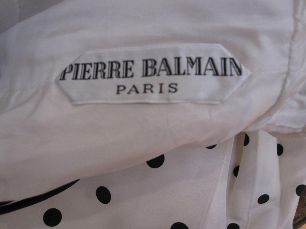 Pierre Balmain Couture by Oscar De la Renta Polka Dot Ball Gown 6