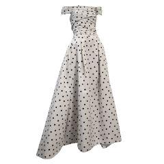 Pierre Balmain Couture by Oscar De la Renta Polka Dot Ball Gown