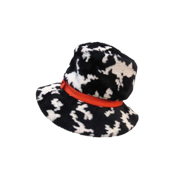 "Mod ""Dachettes"" Hat by Lilly Dache in Dalmation Print For Sale"