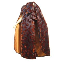 French SilkVelvet Dress and Opera Cape by Simone Pieltain