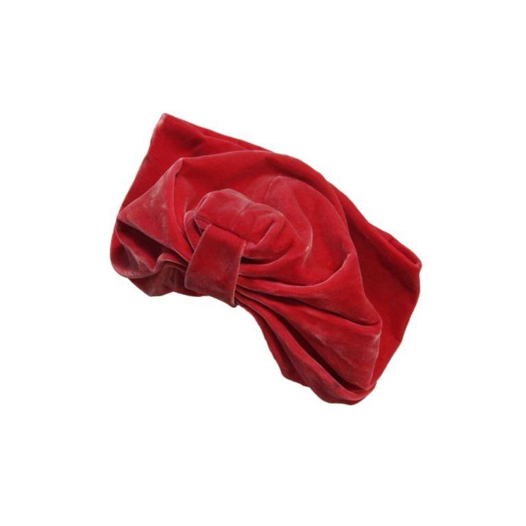 50s Leslie James Pink Velvet  Slouchy Turban Hat