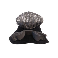 """Mr. John Jr. 60s """"Bonnet"""" Hat of Velvet and Sheer Crown"""