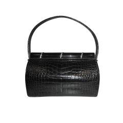 Lucille de Paris Petite Black Alligator Evening Bag