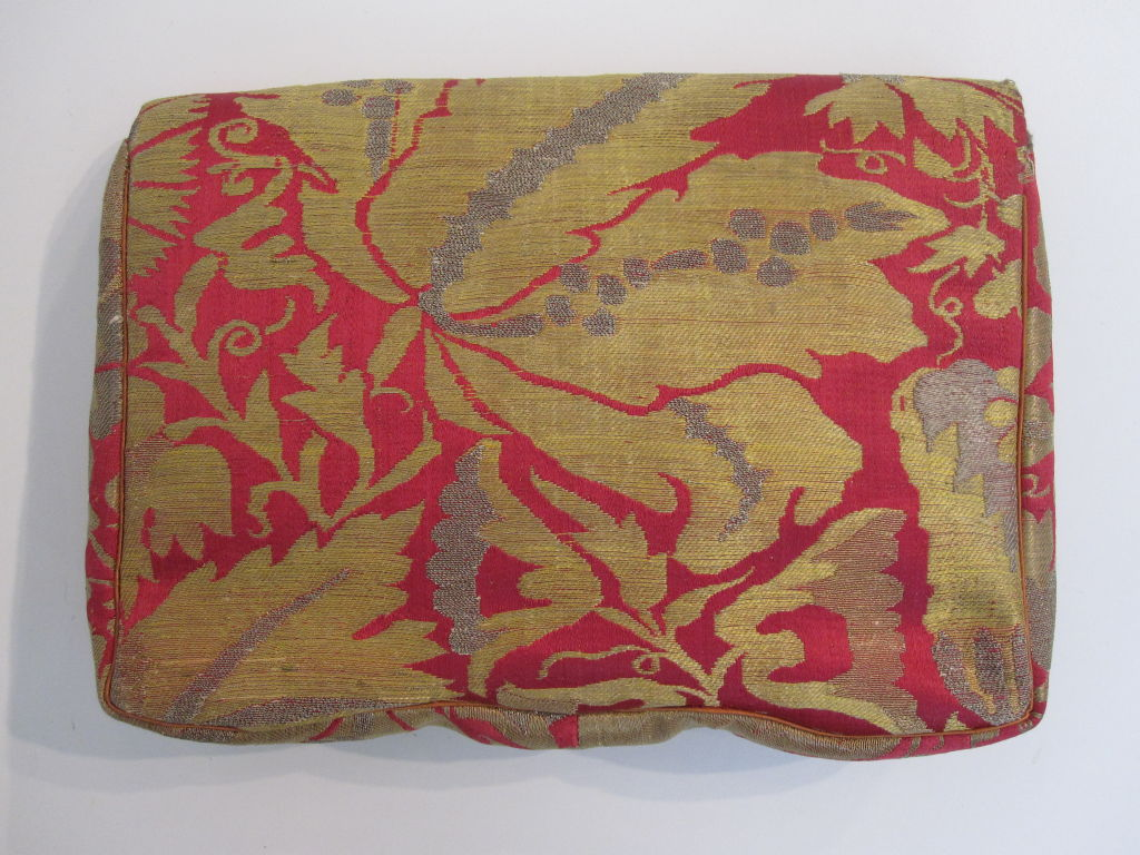 French-Made Saks Fifth Avenue 1940s Brocade Clutch 3