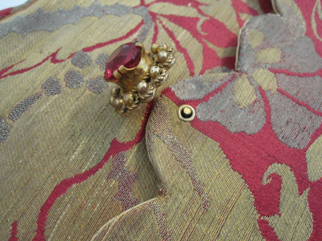 French-Made Saks Fifth Avenue 1940s Brocade Clutch 4