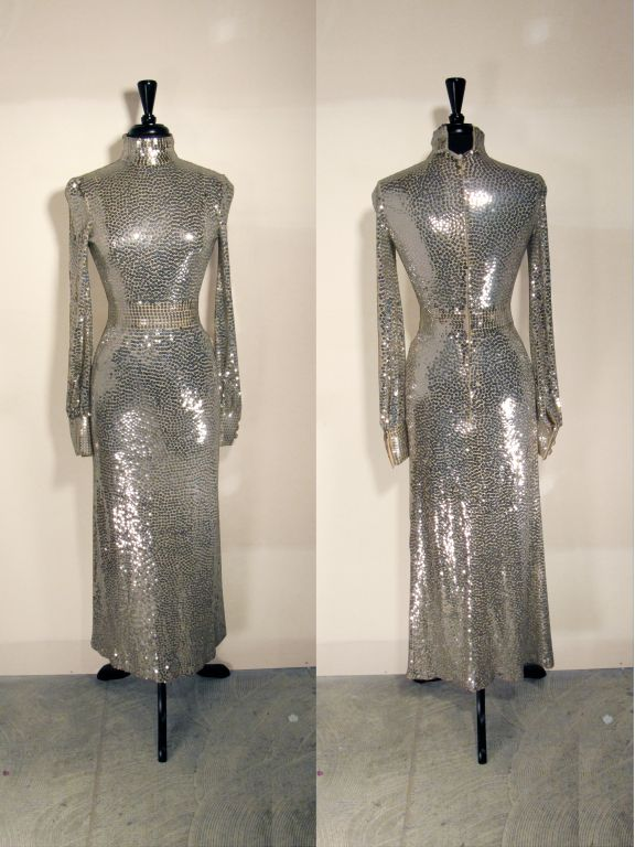 Norman Norell 1960s Iconic Sequin Cocktail Dress image 3