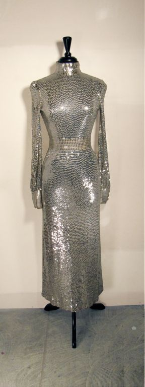 Norman Norell 1960s Iconic Sequin Cocktail Dress image 2