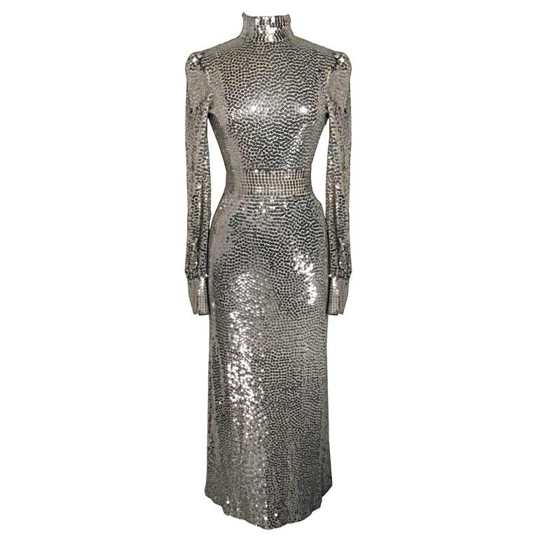 Norman Norell 1960s Iconic Sequin Cocktail Dress