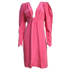 Tarquin Ebker Pink Crepe Cocktail Dress w/ Empire Style