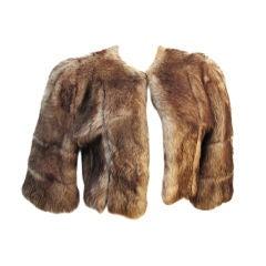 40s Shearling Bolero Cropped Jacket