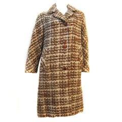 Lilli Ann 50s Wool Tweed Car Coat