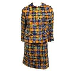 Chanel Adaptation by Dan Millstein - 50s Plaid Tweed Suit
