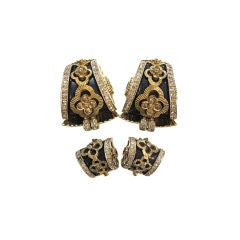 Jomaz 1940s Spectacular Suite w/ Dress Clips and Earrings