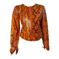 Chanel Snakeskin Painted Jacket