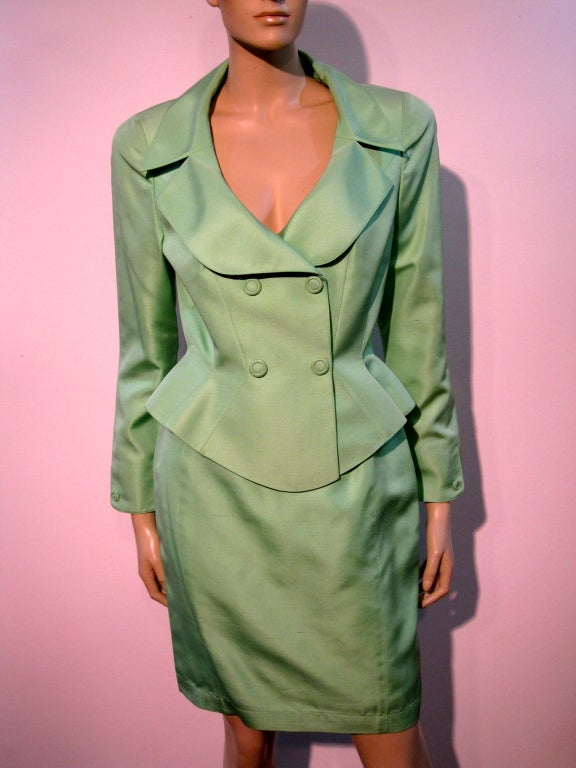 Thierry Mugler Spring Green Skirt Suit with Curvaceous Tailoring 2