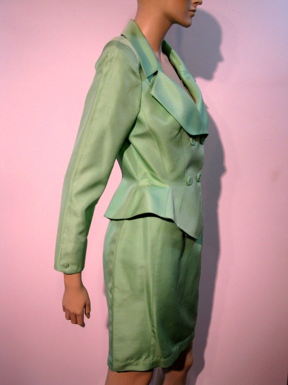 Thierry Mugler Spring Green Skirt Suit with Curvaceous Tailoring 3