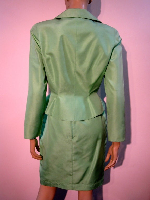Thierry Mugler Spring Green Skirt Suit with Curvaceous Tailoring 4