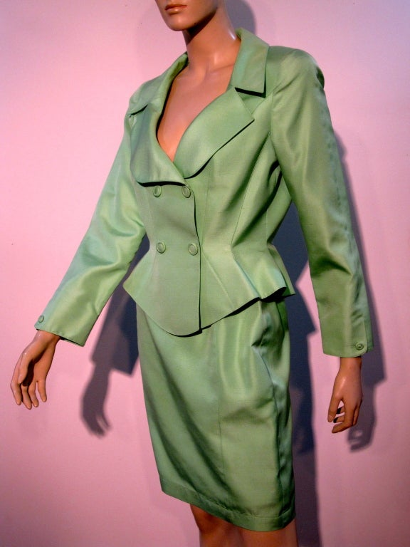 Thierry Mugler Spring Green Skirt Suit with Curvaceous Tailoring 5