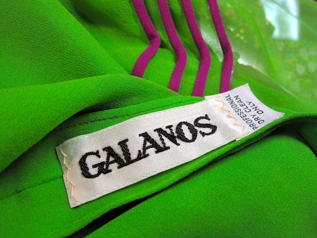James Galanos 70s Silk Chiffon 2-Piece Set w/ Finished Layers 10