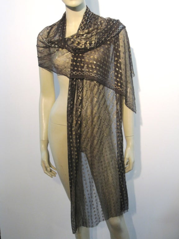 20s assuit metal and mesh evening scarf at 1stdibs