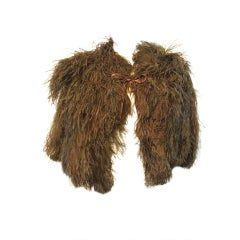 30s Mocha Ostrich Feather Capelet