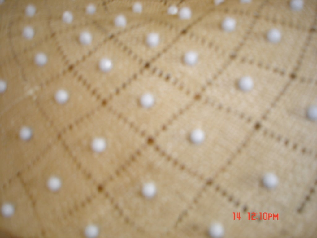 Women's 50s Irene of New York Straw Hat with White Studs For Sale