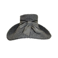 Mr. John 60s Faux Persian Lamb Broad Brimmed Hat