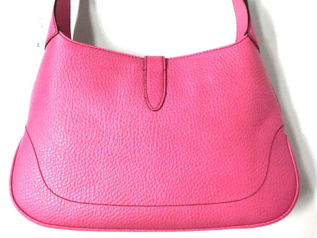 Gucci Bubble-Gum Pink Toggle Closing Shoulder Bag image 4