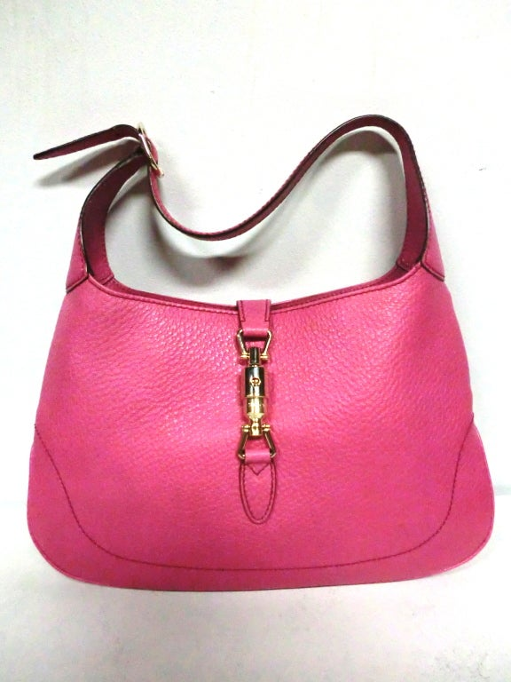 Gucci Bubble-Gum Pink Toggle Closing Shoulder Bag image 5