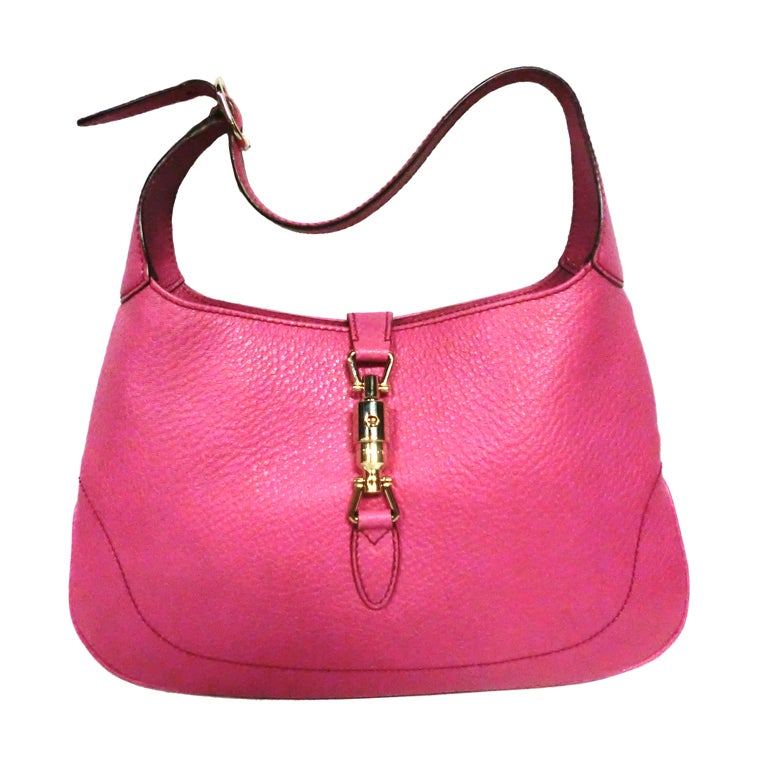 Gucci Bubble-Gum Pink Toggle Closing Shoulder Bag