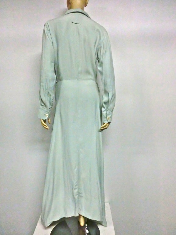 Jean Paul Gaultier Femme Shirtdress in Seafoam image 3