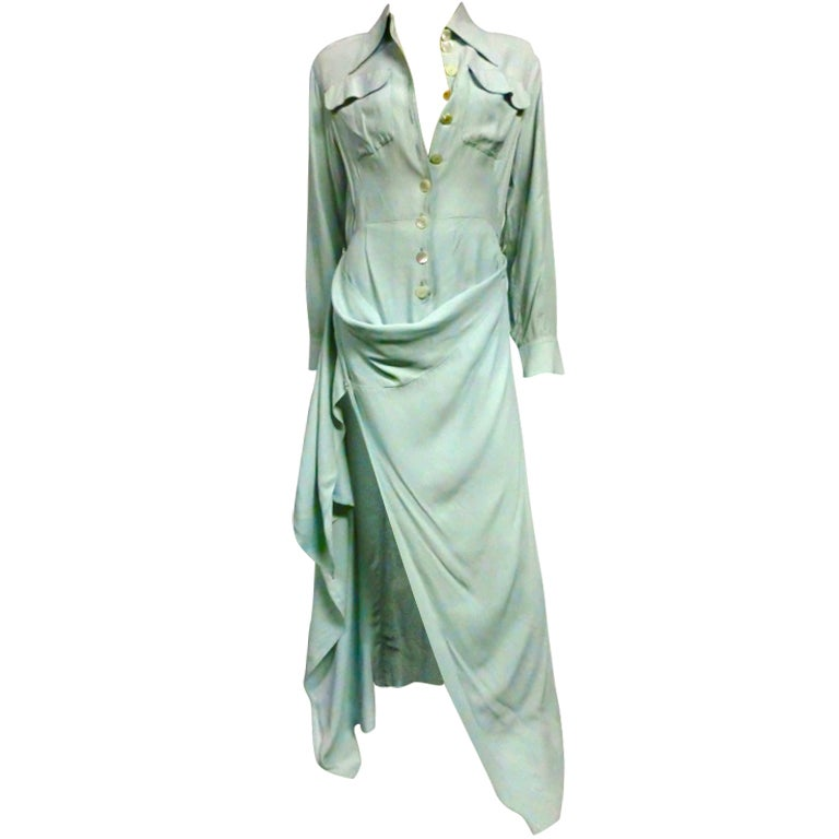 Jean Paul Gaultier Femme Shirtdress in Seafoam
