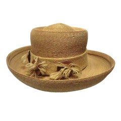 Otto Lucas 60s Straw and Burlap Hat