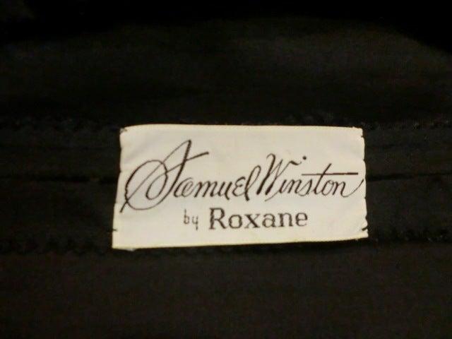 50s Silk Flocked Brocade Samuel Winston Party Dress image 6