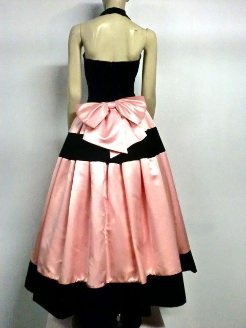 Escada Satin and Velvet Ball Gown w/ Stole 3