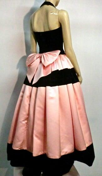 Escada Satin and Velvet Ball Gown w/ Stole 4