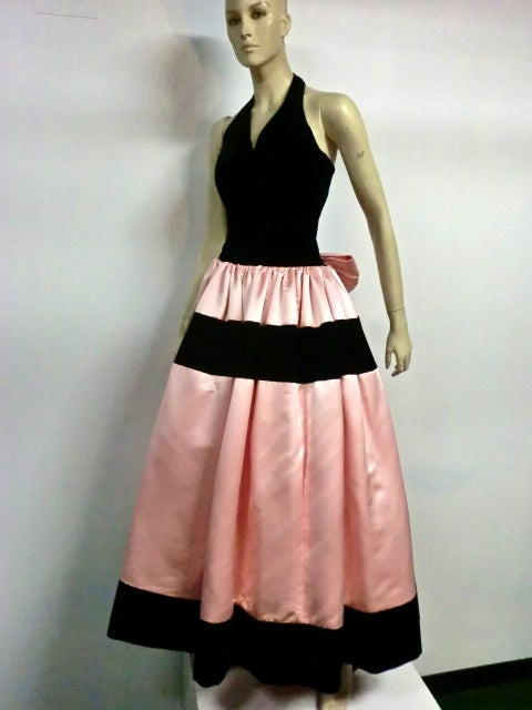 Escada Satin and Velvet Ball Gown w/ Stole 5