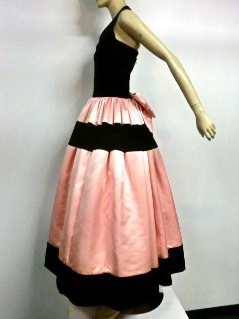 Escada Satin and Velvet Ball Gown w/ Stole 6