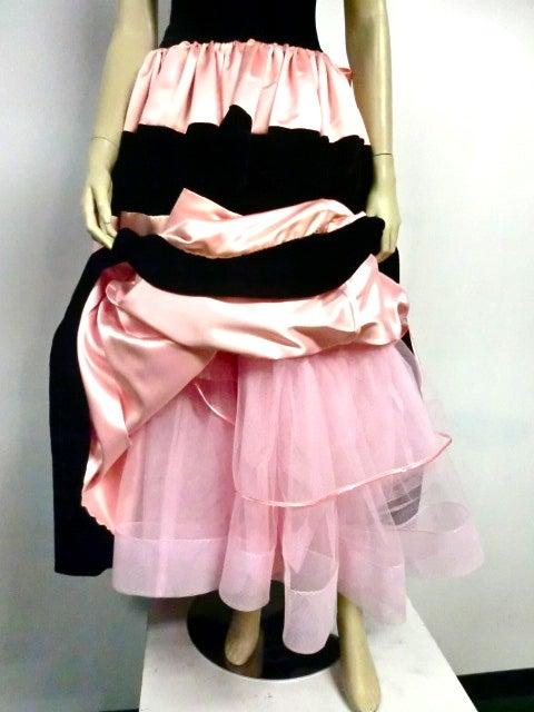 Escada Satin and Velvet Ball Gown w/ Stole 8