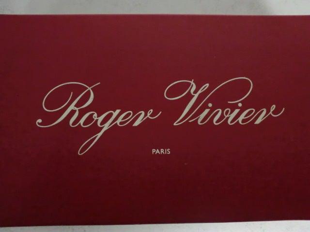 Roger Vivier Mod Sequin Embellished Satin Pump 9