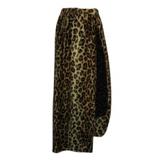60s Faux Leopard Maxi Wrap Skirt
