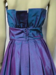 Christian Dior Blue/Purple Iridescent Strapless Silk Ball Gown thumbnail 7